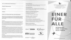 KUBIKO-Ehrenamtspreis für Stadtteil-Helden