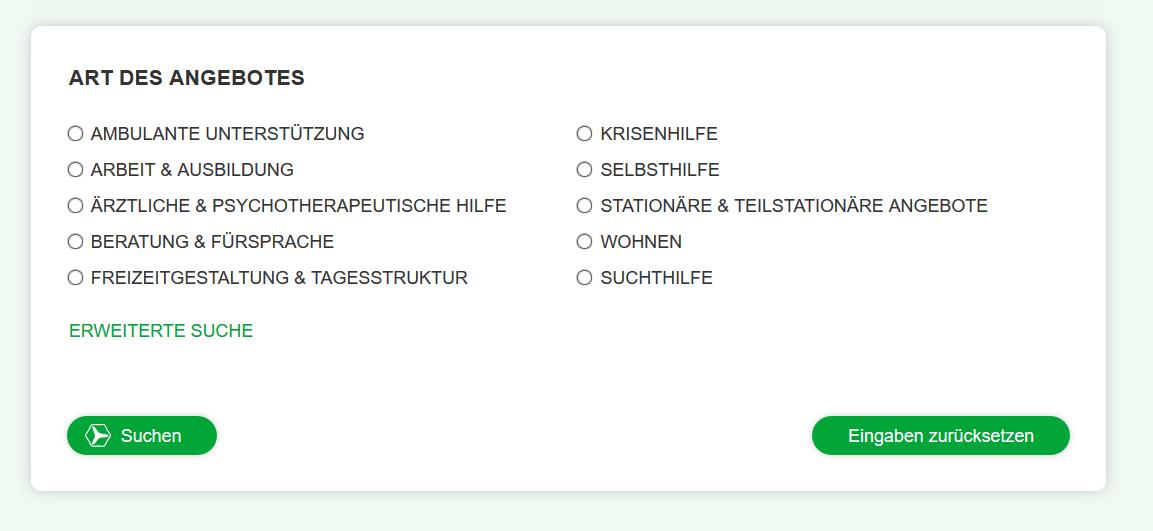 Screenshot-Art des Angebots