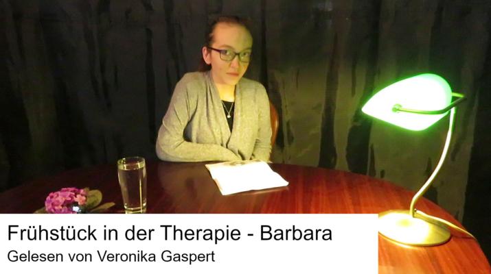 Gaspert liest Frühstück in der Therapie