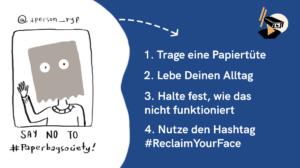 Mit Papiertüten gegen Gesichtserkennung