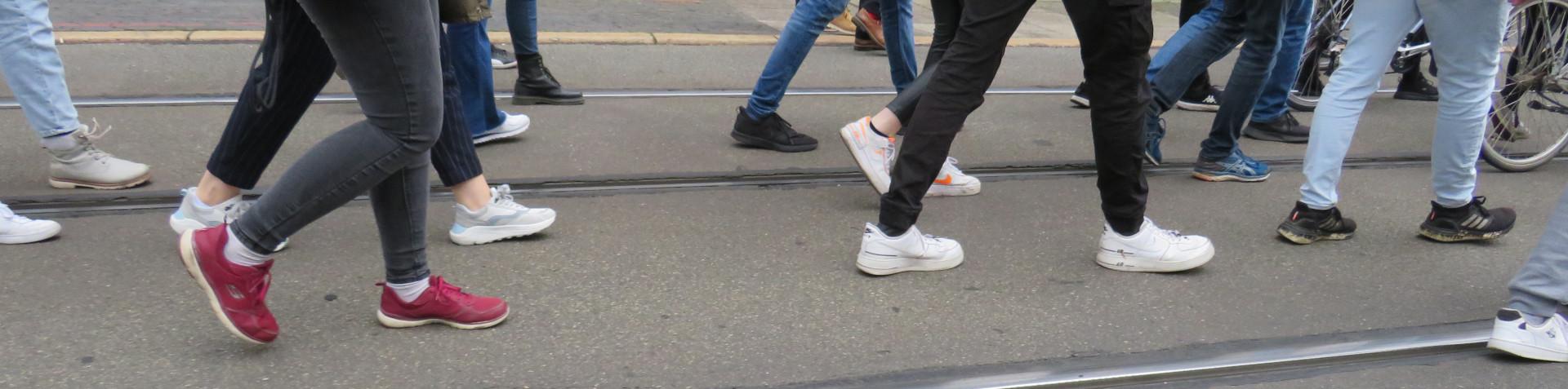 Demo Klimastreik 24.09.2021 Bremen Füße